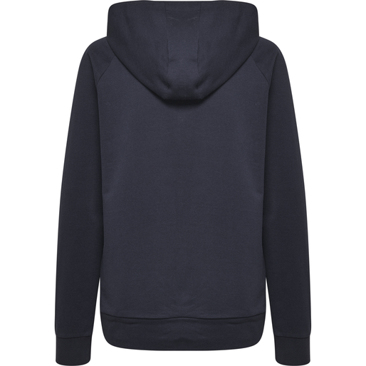 HUMMEL GO COTTON LOGO HOODIE WOMAN, MARINE, packshot