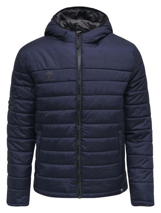 hmlNORTH QUILTED HOOD JACKET, MARINE, packshot
