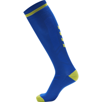 ELITE INDOOR SOCK HIGH, TRUE BLUE/BLAZING YELLOW, packshot