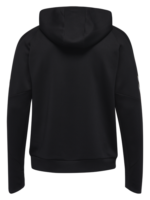 TECH MOVE KIDS POLY HOODIE, BLACK, packshot
