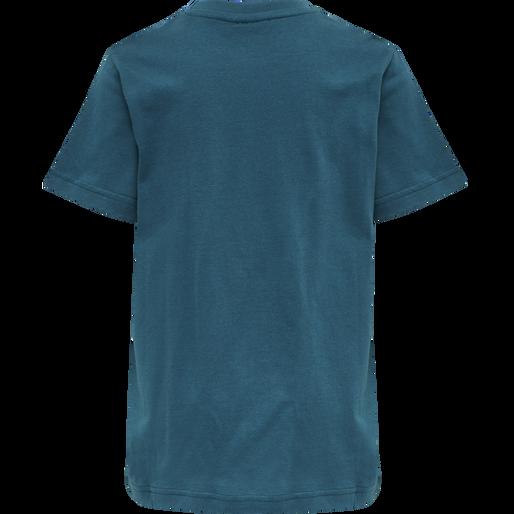 hmlDUO T-SHIRT S/S, BLUE CORAL, packshot