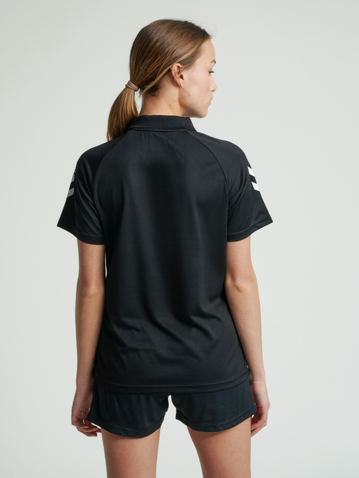 CORE FUNCTIONAL POLO WOMAN, BLACK, model