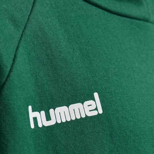 HUMMEL GO KIDS COTTON HOODIE, EVERGREEN, packshot
