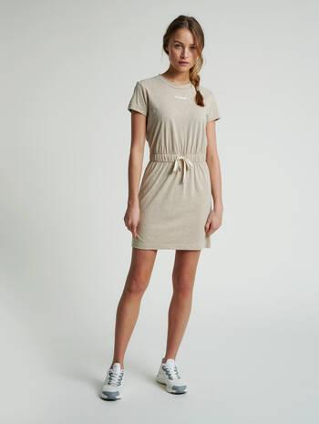 hmlZANDRA DRESS, HUMUS MELANGE, model