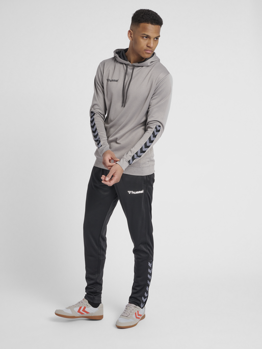 hmlAUTHENTIC POLY HOODIE, GREY MELANGE, model