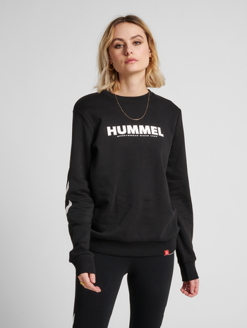hmlLEGACY SWEATSHIRT, BLACK, model