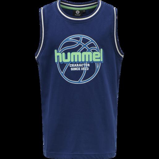 hmlCRUSADER T-SHIRT S/L, ESTATE BLUE, packshot