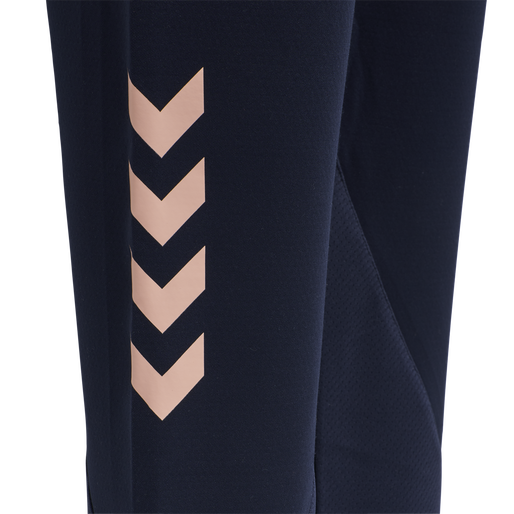hmlACTION TRAINING PANTS WOMAN, MARINE/DUSTY PINK, packshot