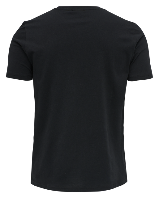 hmlACTON T-SHIRT, BLACK, packshot