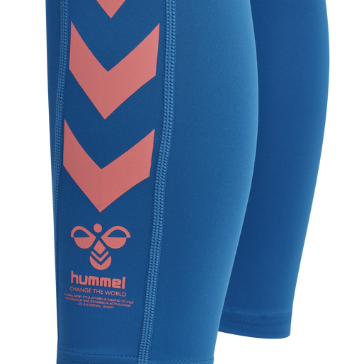 hmlMACI HIGH WAIST 7/8 TIGHTS, MYKONOS BLUE, packshot