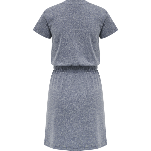 hmlZANDRA DRESS, BLUE NIGHTS MELANGE, packshot