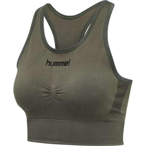 HUMMEL FIRST SEAMLESS BRA WOMEN, GRAPE LEAF, packshot