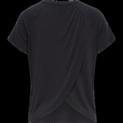 hmlFIONA T-SHIRT, BLACK, packshot