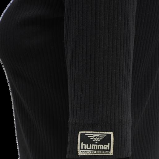 hmlBELL TURTLENECK S/S, BLACK, packshot