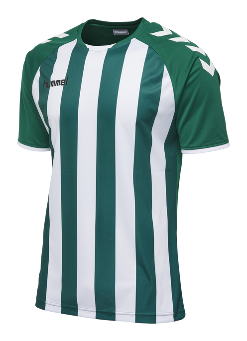 CORE STRIPED SS JERSEY, EVERGREEN/WHITE, packshot