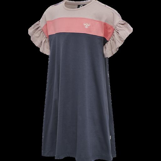 hmlANNA DRESS S/S, OMBRE BLUE , packshot