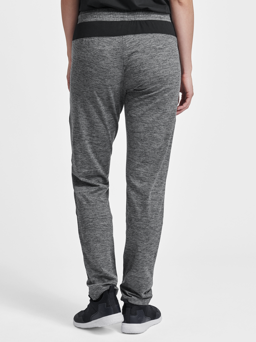 HMLJASMINE PANTS, DARK GREY MELANGE, model