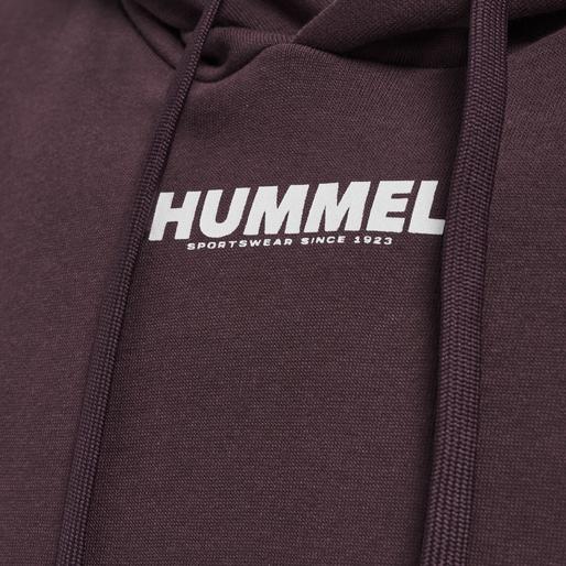 hmlLEGACY HOODIE, FUDGE/WHITE, packshot