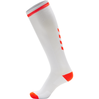 ELITE INDOOR SOCK HIGH, WHITE/DIVA PINK, packshot