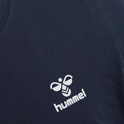 hmlNORTH T-SHIRT L/S, BLACK IRIS, packshot