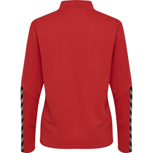 hmlAUTHENTIC HALF ZIP SWEATSHIRT WOMAN, TRUE RED, packshot