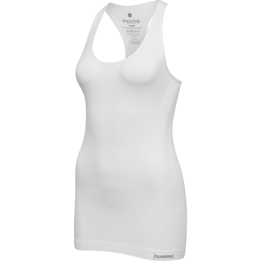 SUE SEAMLESS TOP, WHITE, packshot