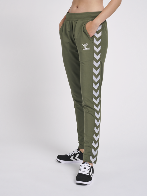 hmlNELLY 2.0 TAPERED PANTS, BEETLE, model