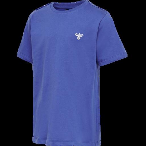 hmlUNI T-SHIRT S/S, AMPARO BLUE, packshot