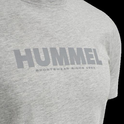 hmlLEGACY T-SHIRT, GREY MELANGE, packshot