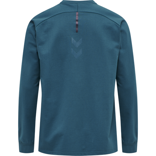 hmlACTION COTTON SWEATSHIRT, BLUE CORAL/DARK SAPPHIRE, packshot