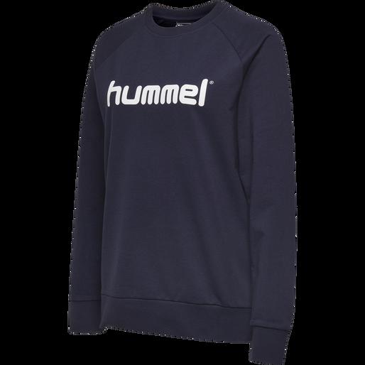 HUMMEL GO COTTON LOGO SWEATSHIRT WOMAN, MARINE, packshot