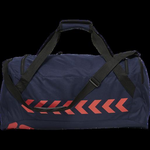 hmlACTION SPORTS BAG, DARK SAPPHIRE/FIESTA, packshot