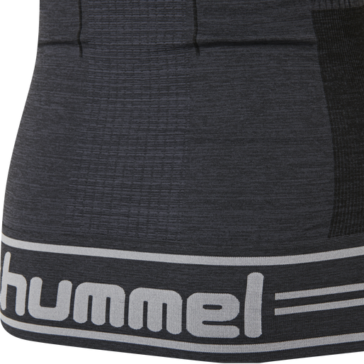 hmlGEMMA SEAMLESS TOP, BLACK, packshot