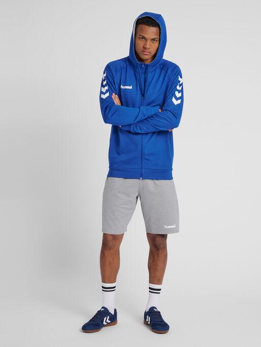 HUMMEL GO COTTON ZIP HOODIE, TRUE BLUE, model