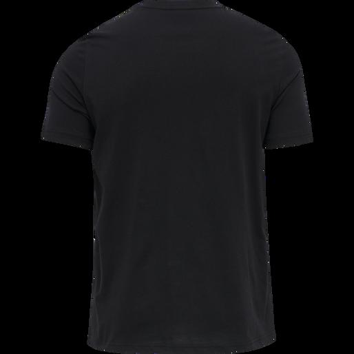 hmlISAM T-SHIRT, BLACK/HUMUS, packshot