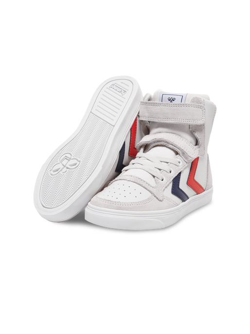 SLIMMER STADIL LEATHER HIGH JR, WHITE, packshot