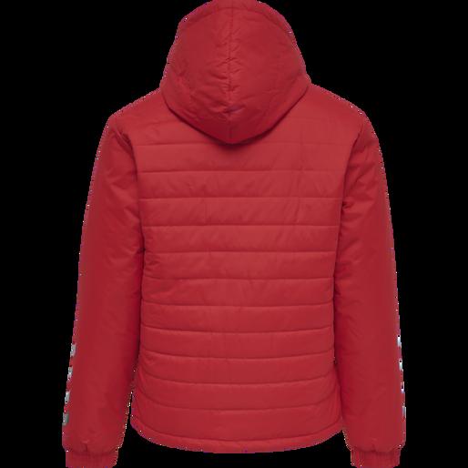 hmlPROMO SHORT BENCH JACKET, TRUE RED, packshot