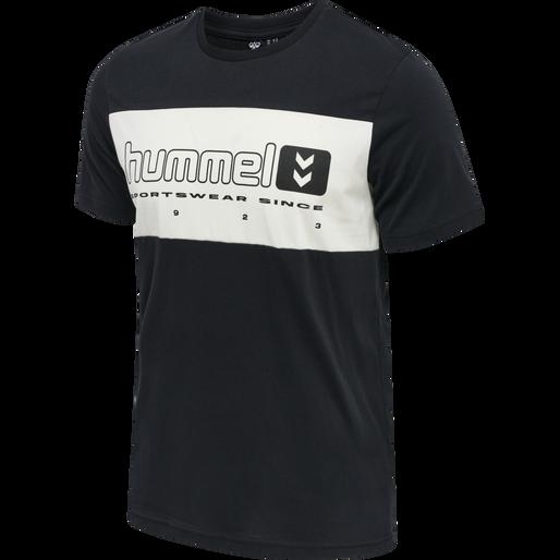 hmlLGC MUSA T-SHIRT, BLACK, packshot