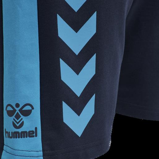 hmlACTION COTTON SHORTS, BLACK IRIS/ATOMIC BLUE, packshot