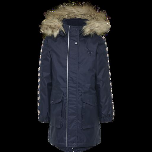 hmlLISE COAT, BLACK IRIS, packshot