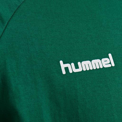 HUMMEL GO COTTON SWEATSHIRT, EVERGREEN, packshot