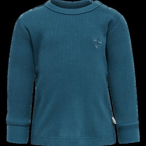 hmlSAMI T-SHIRT L/S, BLUE CORAL, packshot