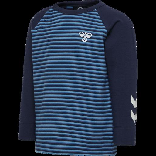 hmlSTANTON T-SHIRT L/S, BLUE SAPPHIRE, packshot