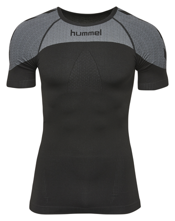 HUMMEL FIRST COMFORT SS JERSEY, BLACK, packshot