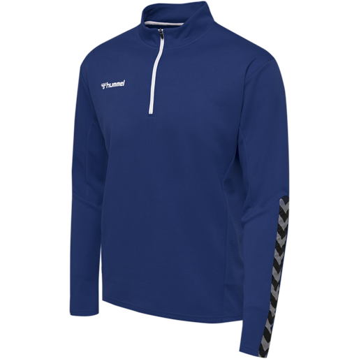 hmlAUTHENTIC HALF ZIP SWEATSHIRT, TRUE BLUE, packshot