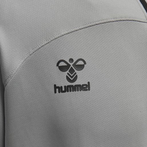 hmlLEAD HALF ZIP, GREY MELANGE, packshot
