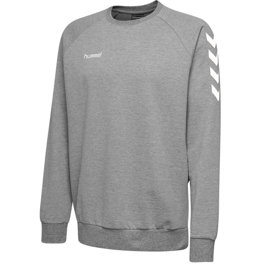 HUMMEL GO COTTON SWEATSHIRT, GREY MELANGE, packshot
