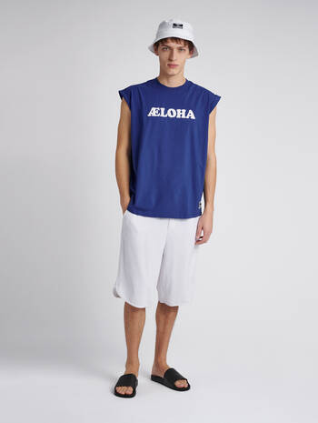hmlAELOHA LOOSE T-SHIRT S/L, MAZARINE BLUE, model