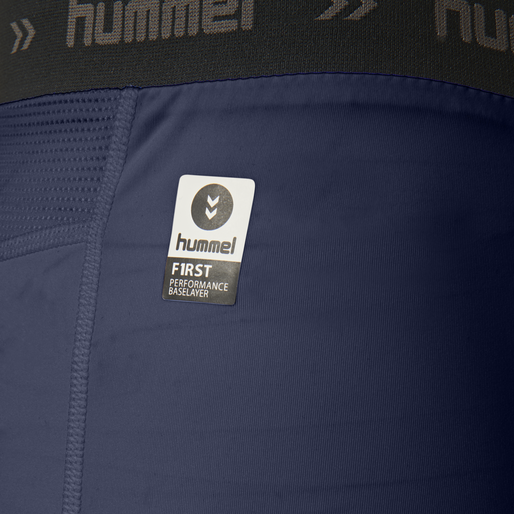 HUMMEL FIRST PERFORMANCE TIGHT SHORTS, MARINE, packshot