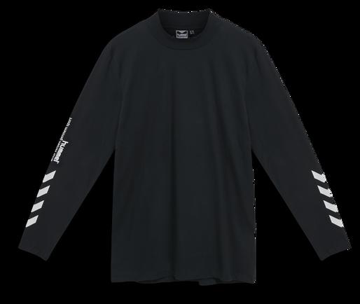 hmlSUBURB T-SHIRT L/S, BLACK, packshot